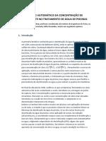 Controlo Automático Da Concentração de Desinfectante No Tratamento de Água de Piscinas