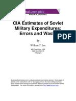 CIA Estimates of Soviet Military Expenditures Errors and Waste