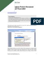 Menghilangkan Protect Document