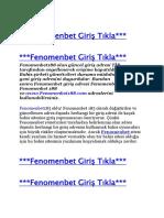 Fenomenbet96 Giriş - Fenomenbet 96 Yeni Adresi - Fenomenbet96.com