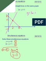 Core1 Simultaneous Equations 081010