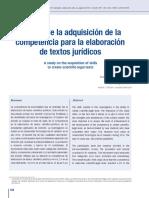 Competencia para la elaboracion de textos jurídicos