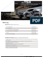 2010 Acura TSX Fact Sheet Herb Connolly MA