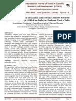 Antioxidant Activity of astaxanthin isolated from Charybdis Edwardsii (Leene and Buitendijk ,1949) from Pazhayar, Southeast Coast of India