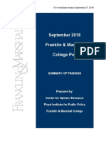 F&M Poll Release September 2018