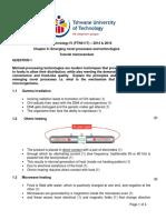 Chapter 6_Emerging Novel Processes and Technologies - Tutorial Memorandum 2014 & 2016