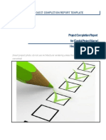 Appendix 4.4 Project Completion Report Template