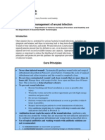 Prevention and Management of Wound Infection