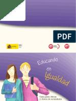Educando en Igualdad Guia Para Chicas y Chicos de Secundaria