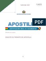 Apostilla Bolivia