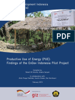 EnDev Indonesia - Productive Use of Energy - Findings of Pilot Project (GIZ, 2013)