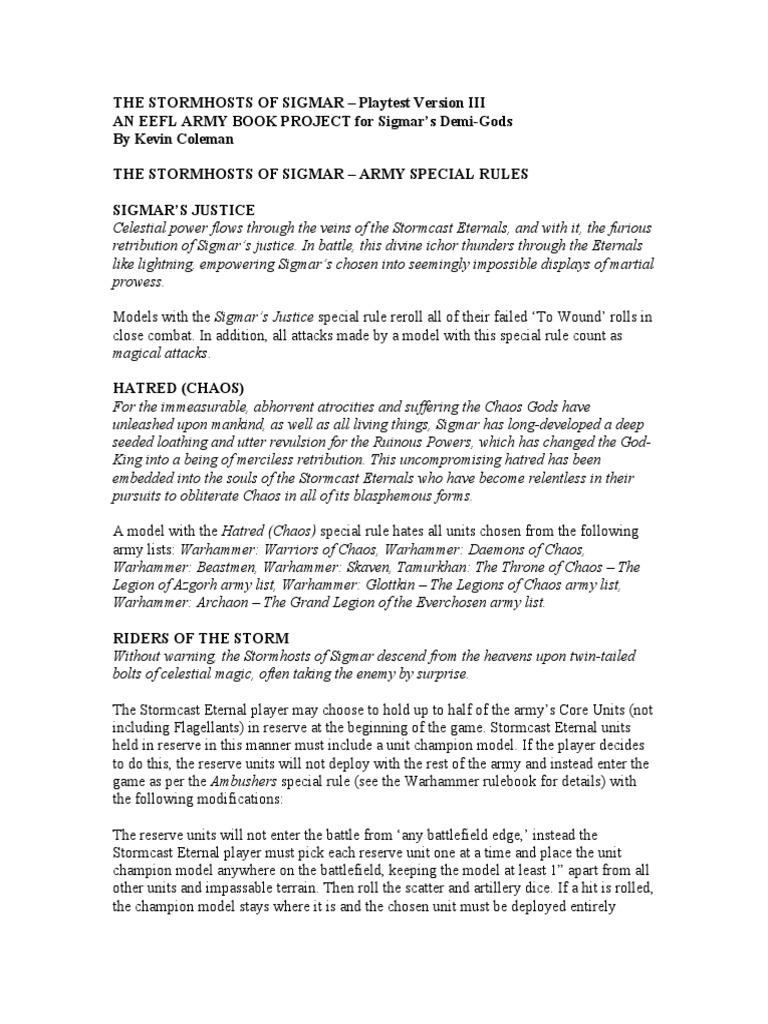 Stormhost of Sigmar-draft III | Military | Weaponry