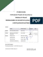 Ip-ssm 33 (Ee) - Semnalizarea de Securitate Si Sau Sanatate a Instalatiilor Electrice Ok