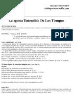 HCV- La Iglesia Entendida de Los Tiempos. 22 Septiembre, 2018