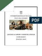 LMCE1032 Course Booklet Sem 1, 2018-2019