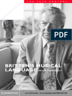 Britten s Musical Language Philip Rupprecht