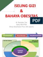 Konseling Gizi & Bahaya Obesitas