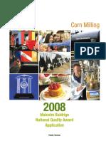 2008 Cargill Corn Milling Application Summary