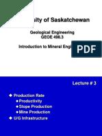 U of S GEOE498.3 Fall 2010 Lecture 3ToPrint