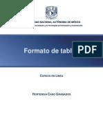 Formato de tablas