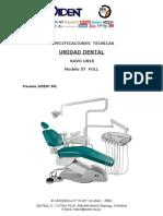 Especificaciones Tecnicas Unidad Dental y Compresora