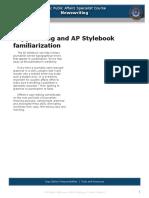 AP Stylebook and Copy Editing