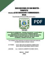 """ESTRATEGIA DE APRENDIZAJE """"VALORES ECOLÓGICOS"""" Y SU INFLUENCIA EN EL DESARROLLO DE ACTITUDES CONSERVACIONISTAS MEDIOAMBIENTALES EN ESTUDIANTES DE LA INSTITUCIÓN EDUCATIVA MANUEL FIDENCIO HIDALGO FLORES DEL DISTRITO DE NUEVA CAJAMARCA, PROVINCIA DE RIOJA, 2006"""