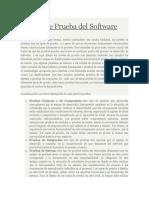 Notas de Pruebas de Software