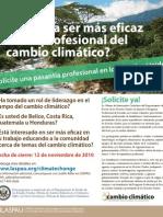 Climate Change Professional Fellows Program - Spanish