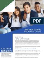 2018 Calvert High School Program Guide