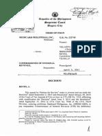 C28.2 San Roque Power Corp. v. CIR , G.R. 180345, Nov 25, 2009