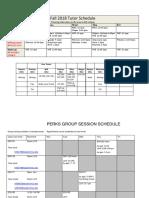 tutor schedule fall 2018