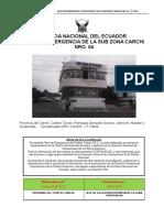 Plan Emergencia Distrito Tulcan 2018