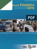 Anuario Estadístico de Accidentes de Tránsito Con Víctimas en Costa Rica 2016