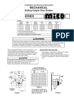 Installation & Maintance Manual 515 Series Caliper Disc Brakes