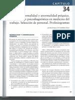 CAP 34 Normalidad y Anormalidad Psiquica. Exploracion Psicodiag