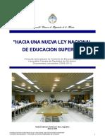 Consulta Hacia Una Nueva Ley Nacional de Educacion Superior
