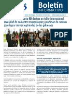 Boletín de la Dirección General de Presupuesto de la Rep. Dominicana 05/2018