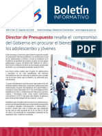Boletín de la Dirección General de Presupuesto de la Rep. Dominicana 08/2018