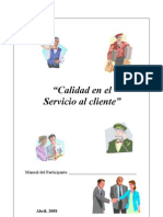 Calidad en el Servicio al Cliente - Manual
