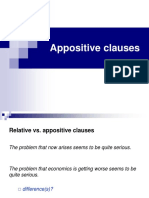 APPOSITIVE CLAUSES