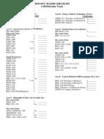Biology Major Checklist Cell Track