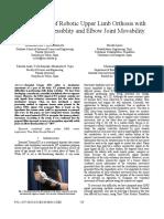Desarrollo de Ortesis Robótica de La Extremidad Superior Con Supresión de Temblores y Movilidad de La Articulación Del Codo