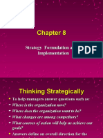 Strategy Formulation and Implemetation