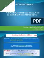 PERSPECTIVAS SOBRE USO DE AGUA EN EL SECTOR MINERO METALÚRGICO