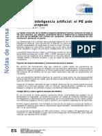 European Parliament - Robots e Inteligencia Artificial Normas Europeas