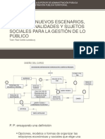 NUEVOS ESCENARIOS, INSTITUCIONALIDADES Y SUJETOS SOCIALES PARA LA GESTIÓN DE LO PÚBLICO