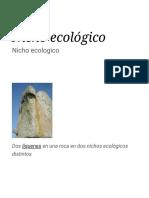 Nicho Ecológico - Wikipedia, La Enciclopedia Libre