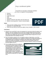 AMEDEO Glider Instructions&Template-Cardboard