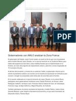 13-09-2018 Gobernadores con AMLO analizan la Zona Franca - Periodico El Mexicano